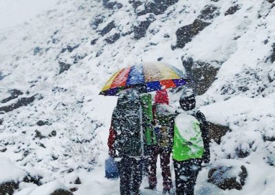 Snow Storm during Tapovan Trek